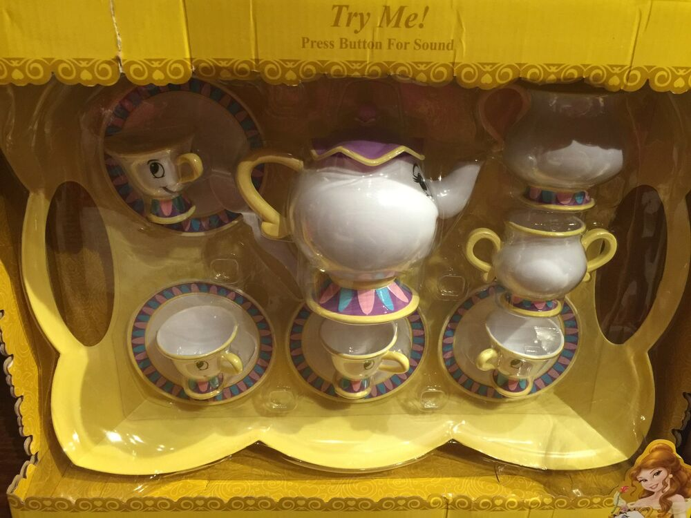 Disney Parks Beauty And The Beast Tea Set Toy Sound Belle