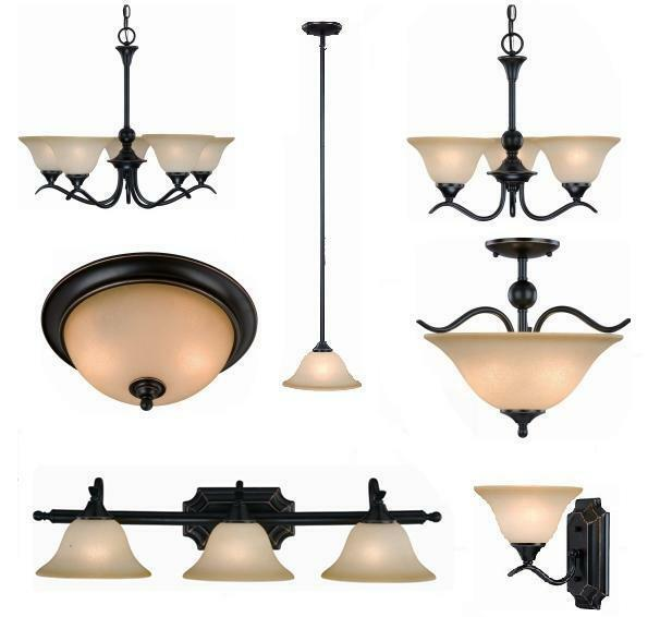 Oil Rubbed Bronze Bathroom Vanity, Ceiling Lights