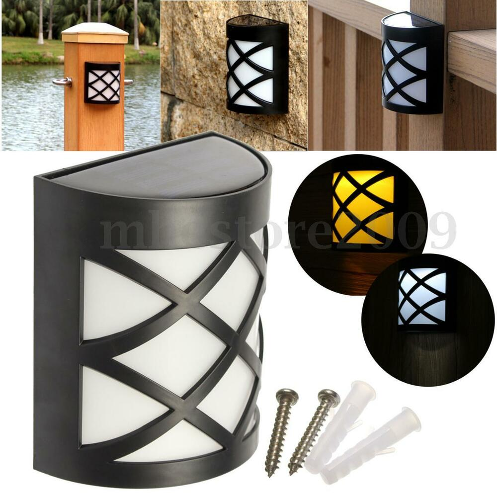 Solar Lights To Hang On Fence: Solar Power Wall Mount 6-LED Light Outdoor Garden Path