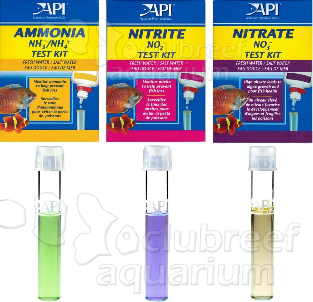 Ammonia nitrite nitrate test kit new aquarium cycle water for Nitrite in fish tank