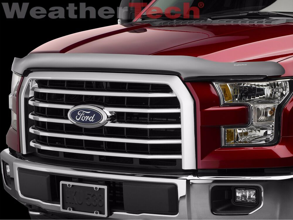 weathertech stone bug deflector hood shield for ford f. Black Bedroom Furniture Sets. Home Design Ideas