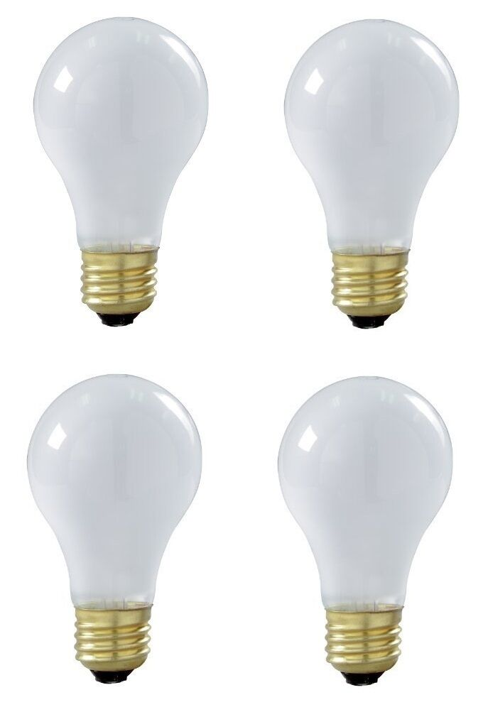 satco s8522 60 watt a19 incandescent bulb frost medium base pack of 4. Black Bedroom Furniture Sets. Home Design Ideas