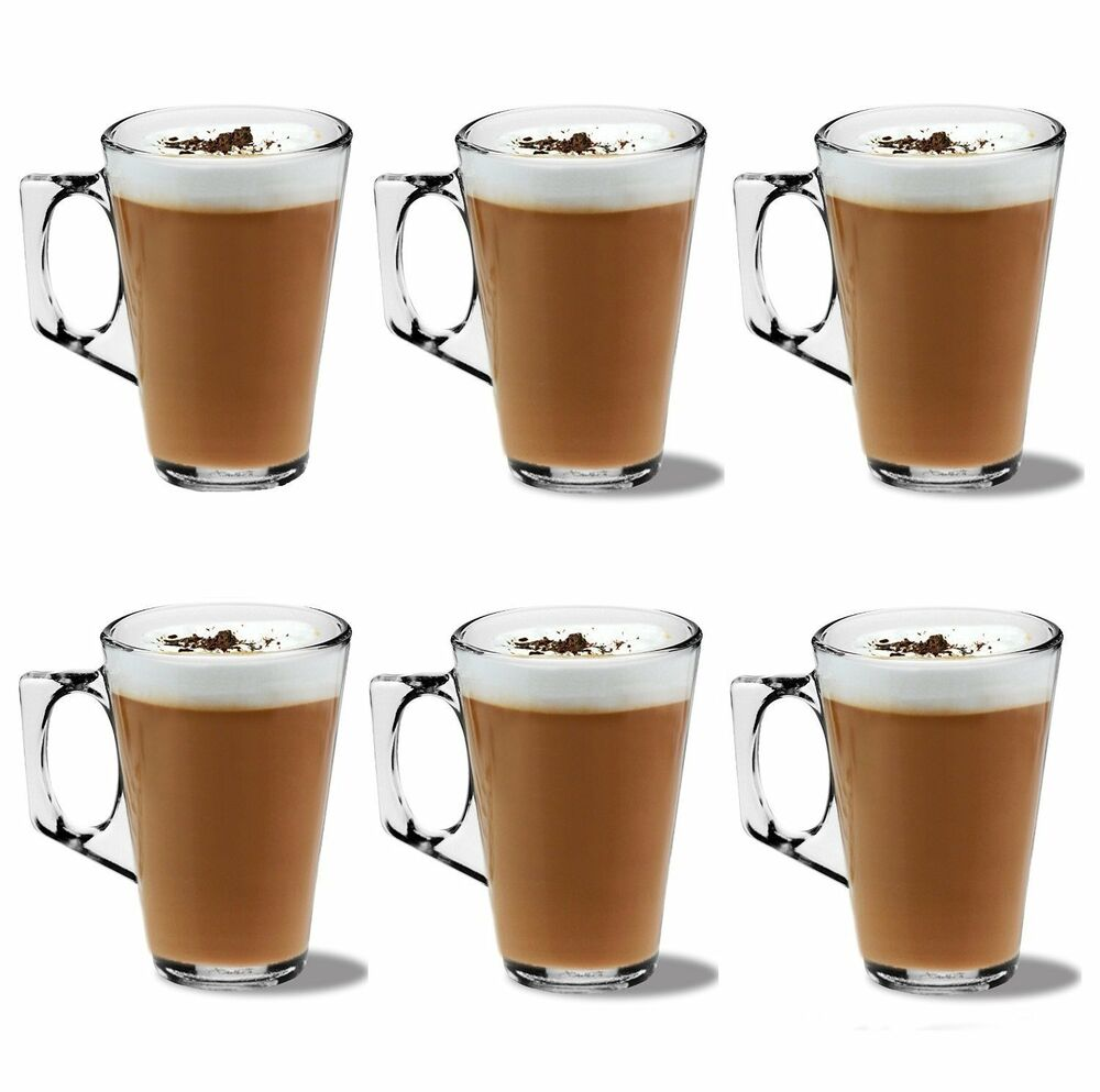Espresso Coffee Glass ~ Coffee latte glasses mugs ml with stainless spoons