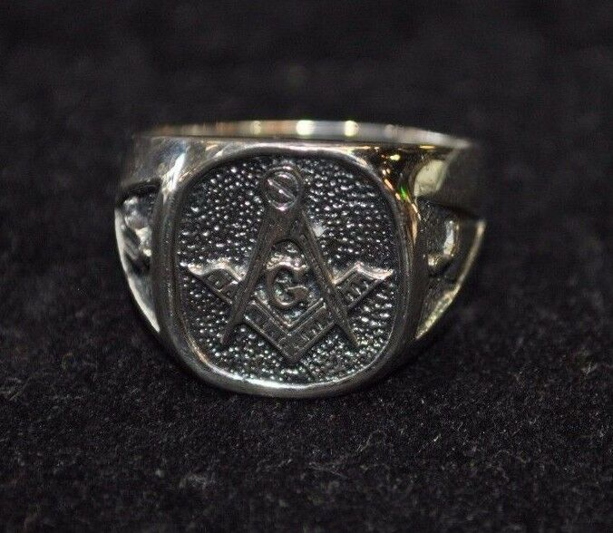 solid sterling silver masonic ring your size ebay