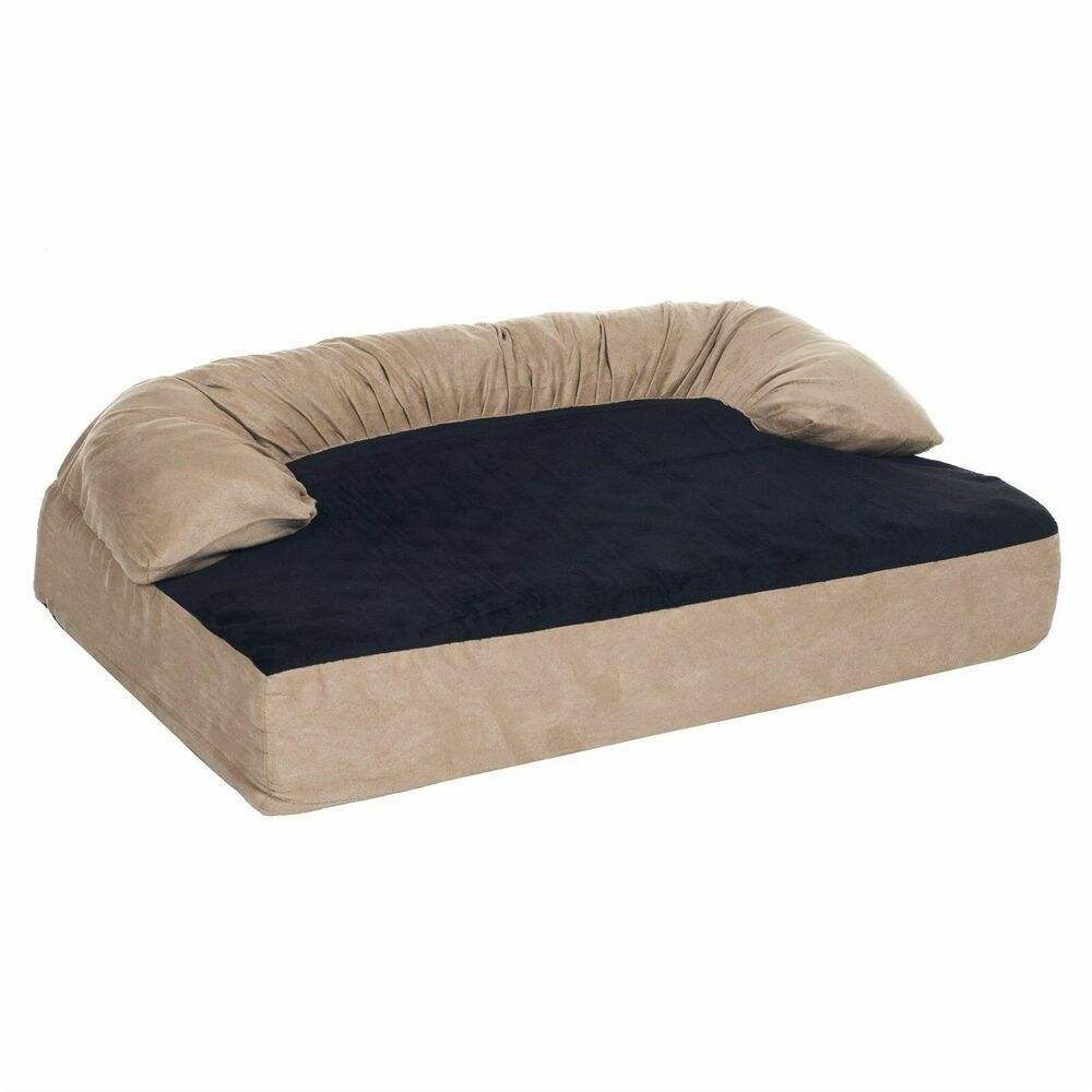 paw orthopedic memory foam joint relief bolster dog bed 50 x 35 inches x large ebay. Black Bedroom Furniture Sets. Home Design Ideas