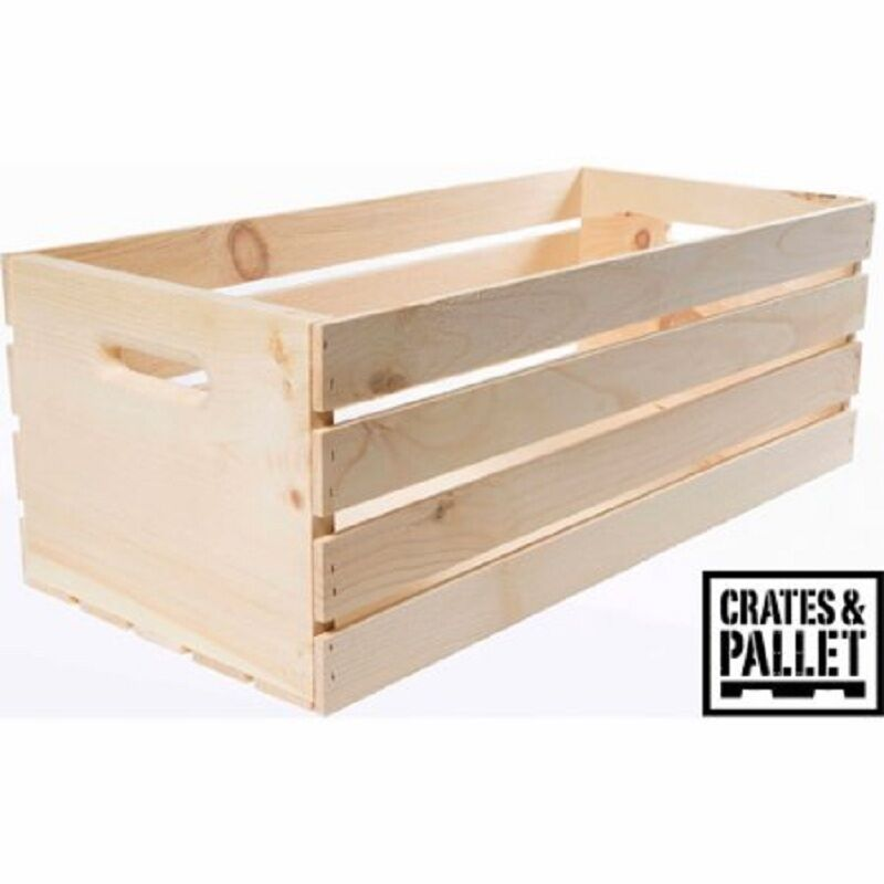 Crates and pallet x large wood crate decorative arts woodenware box new ebay - Decorative wooden crates ...