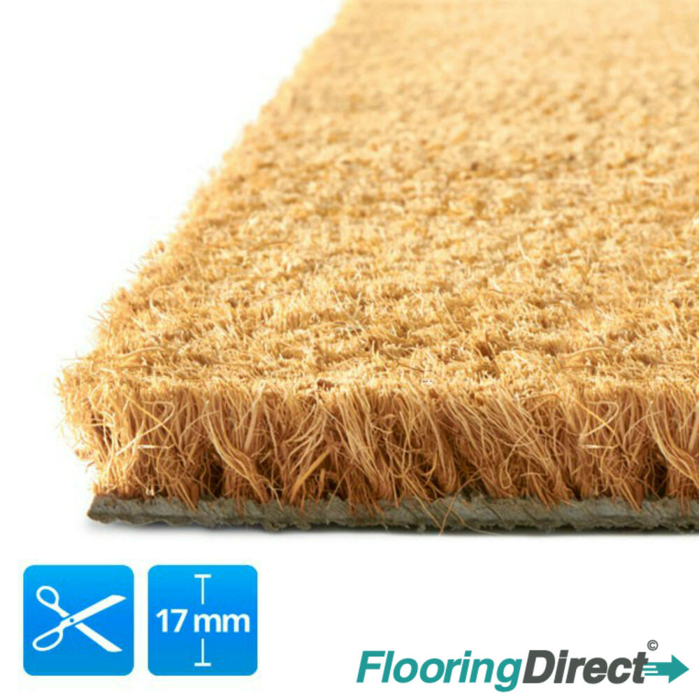Coir Mat Coconut Door Matting Large Heavy Duty 17mm 1m