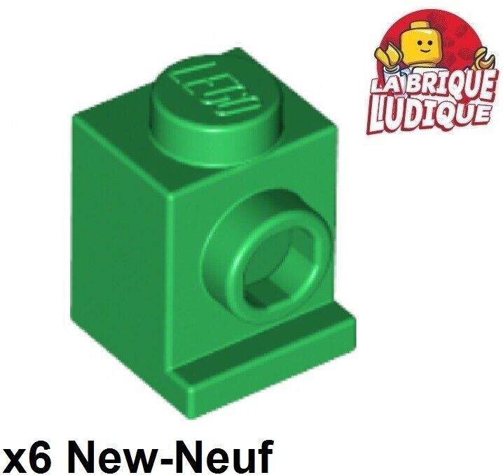 Lego 4x Brique Brick Modified 1x1 stud 1 side vert sable//sand green 87087 NEUF