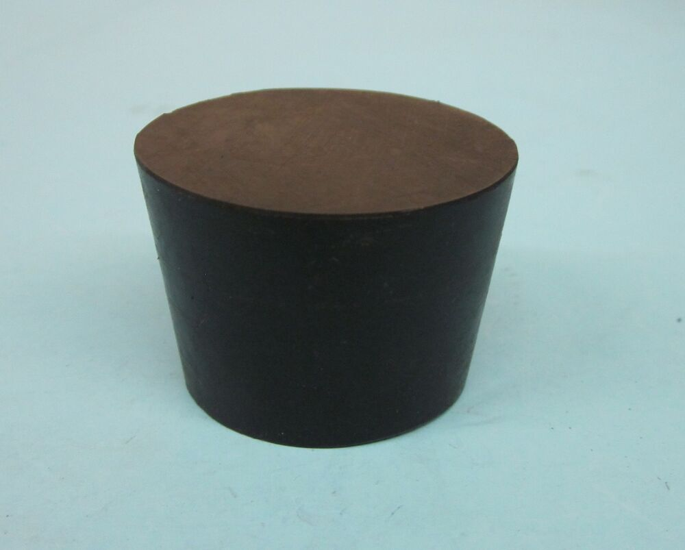 New Solid 6 5 Tapered Rubber Stopper Plug Lot Of 2 Ebay