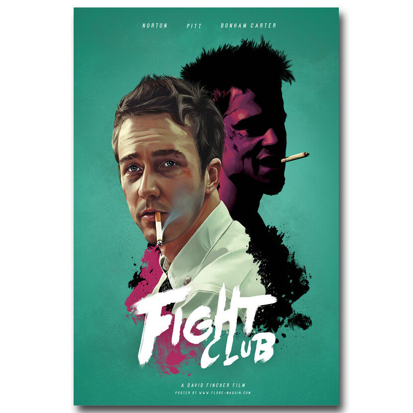 Fight club classic movie film silk poster print 12x18 for Living room 12x18