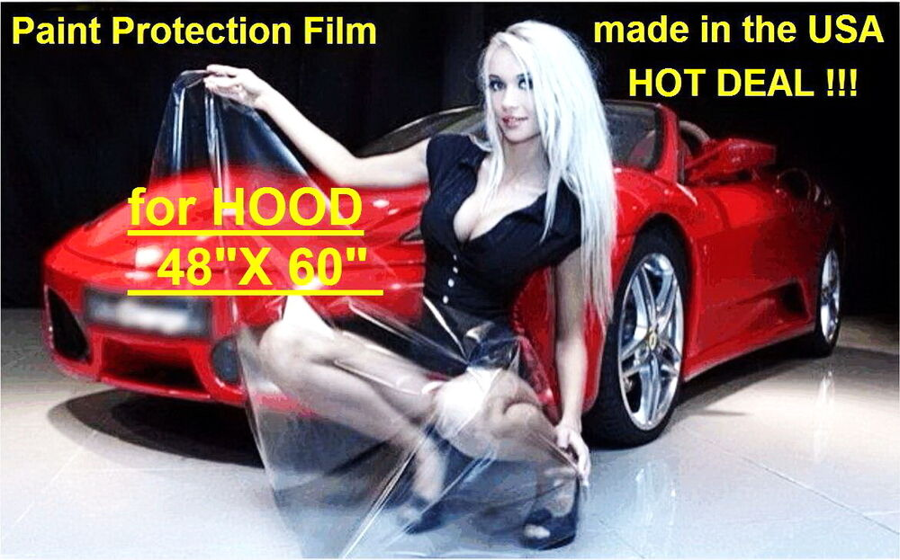 paint protection film for hood 48 x 60 vinyl clear bra