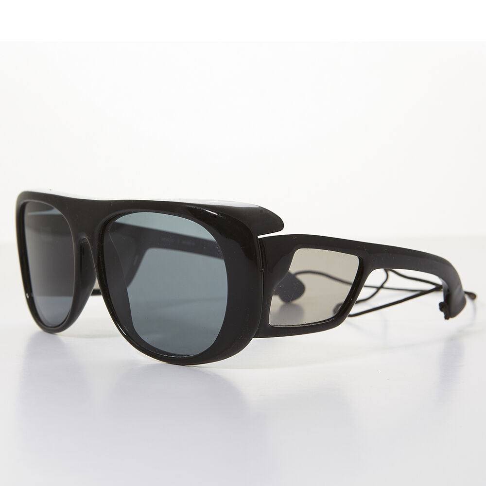 85a459a84b20 Details about Polarized Glass Lens Sporty Vintage Fishing Vintage Sunglass  Black -Lerner