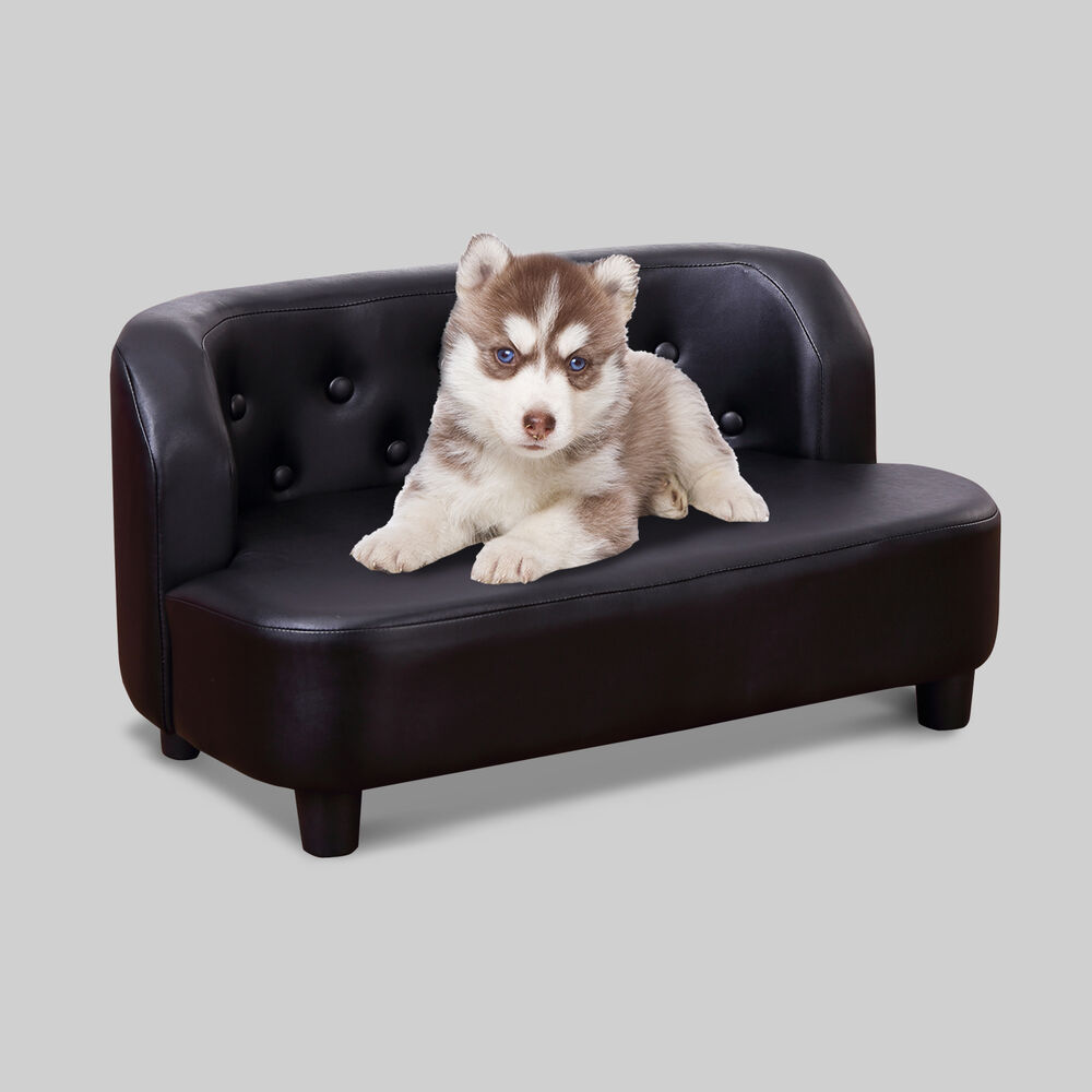 Pawhut Pet Bed Sofa Chair Dog Soft Comfy Cat Sofa Pu Couch