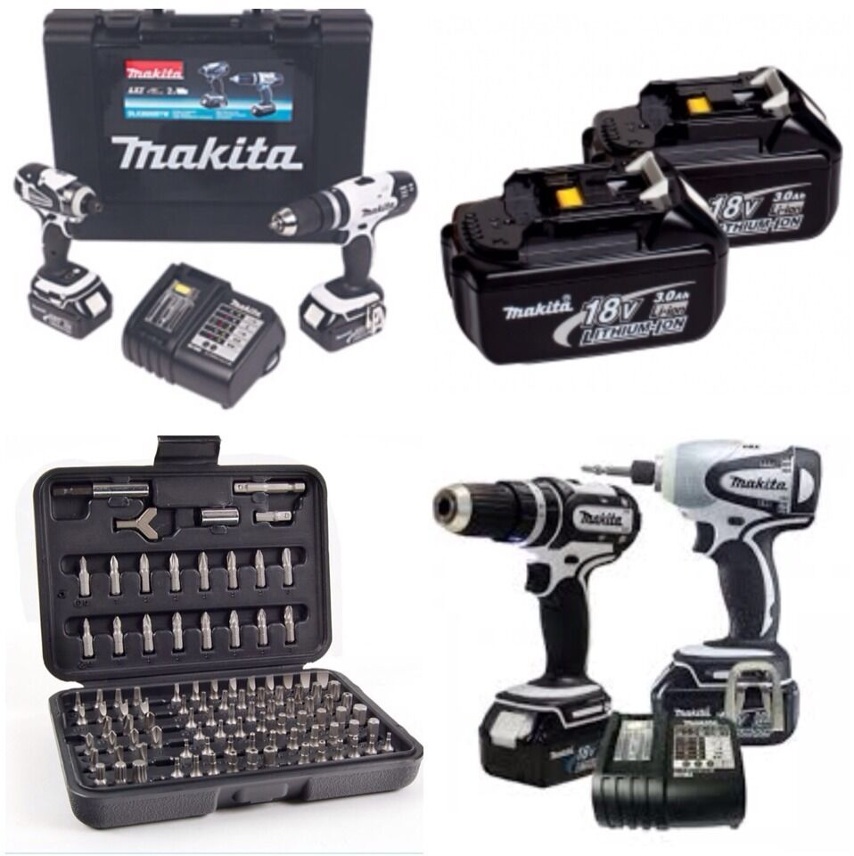 makita 18v twin pack dlx2020sw complete lxt x2 heavy duty 3 0 batterys ebay. Black Bedroom Furniture Sets. Home Design Ideas