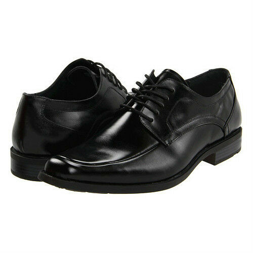 Black Leather Comfort Shoes   Wide Lace Up
