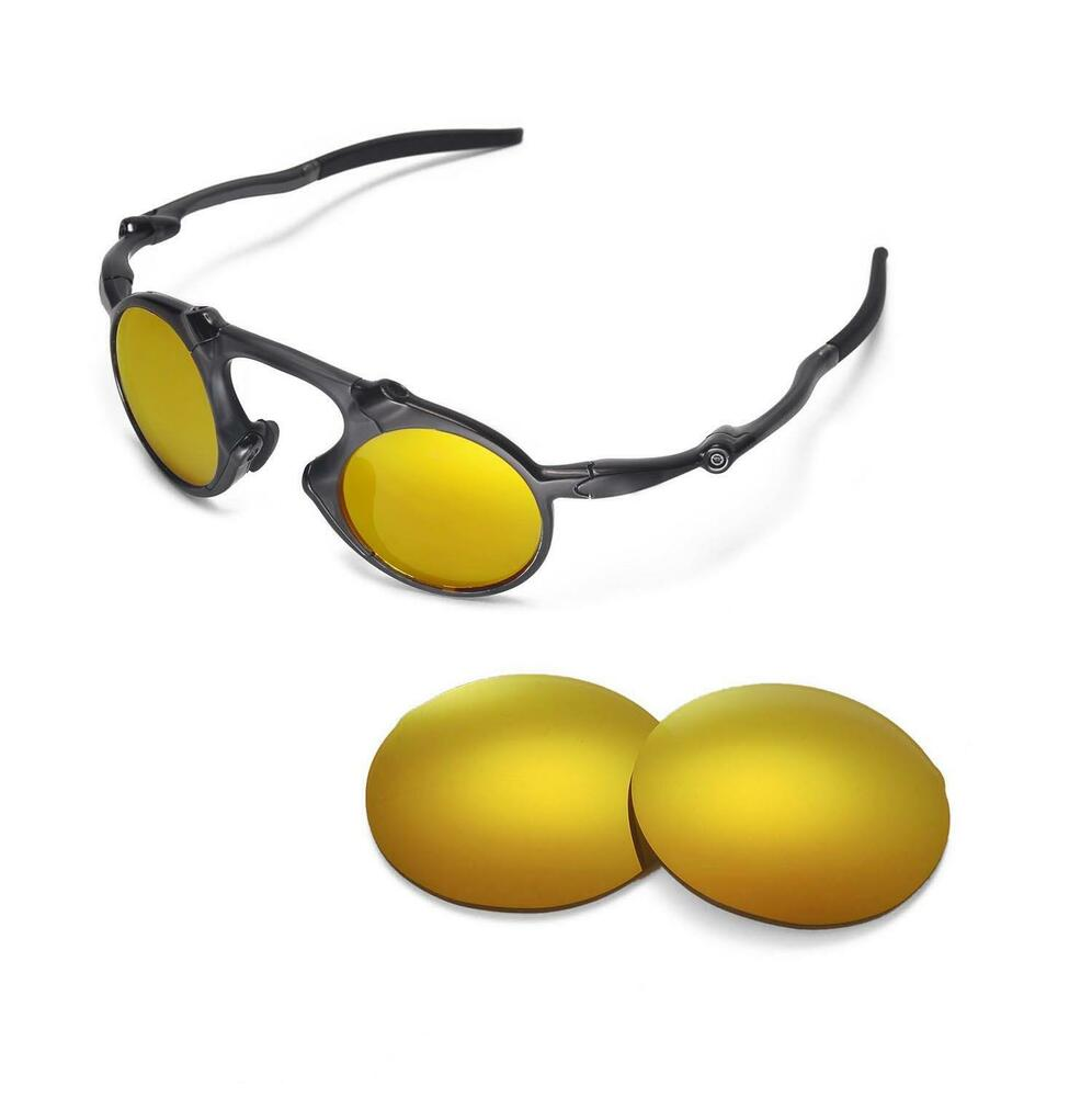 8c6f4f7ef6 Details about New Walleva Polarized 24K Gold Replacement Lenses For Oakley  Madman Sunglasses