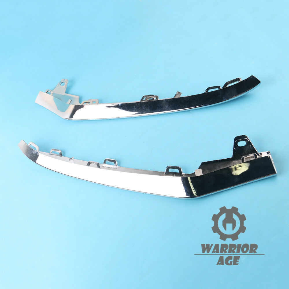 2x left right front bumper chrome trim molding for for 2014 mercedes benz e350 coupe accessories