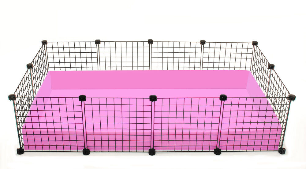 New cube coroplast guinea pig cage 2x4 grid c c large for Where to get c c cages