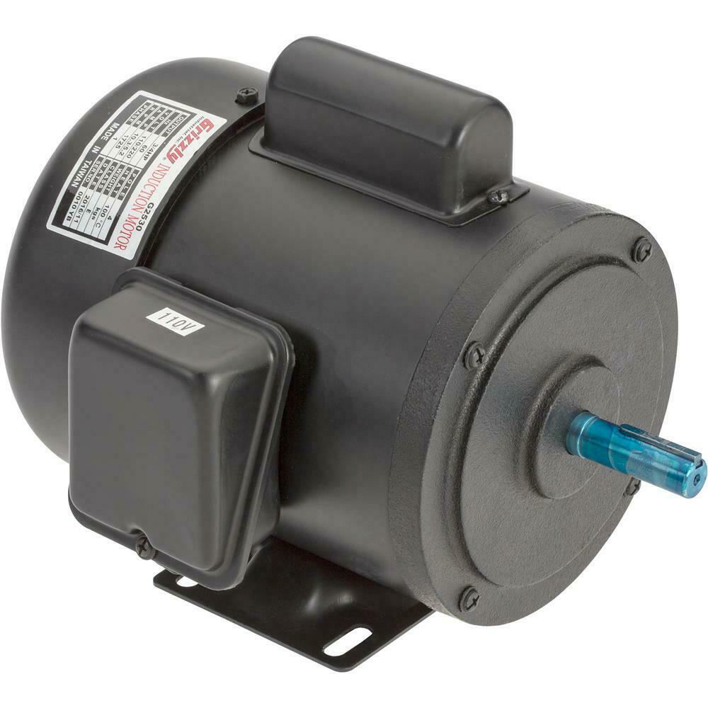 G2530 grizzly motor 3 4 hp single phase 1725 rpm tefc 110v for 3 hp single phase 220v motor