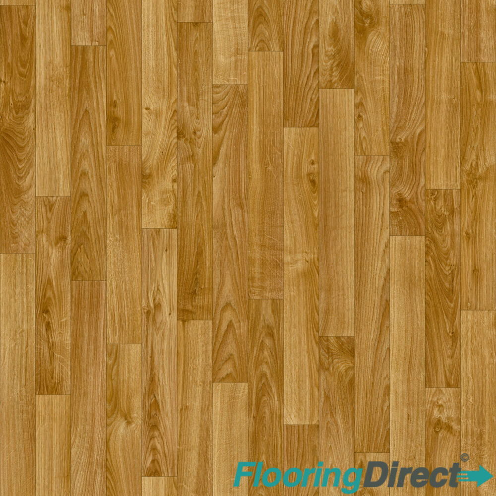 Oak wood laminate effect vinyl flooring kitchen bathroom for Wood effect vinyl flooring bathroom