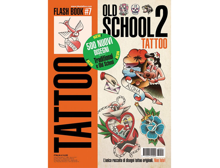 old school 2 tattoo flash design book 64 pages traditional sketch art ink supply ebay. Black Bedroom Furniture Sets. Home Design Ideas
