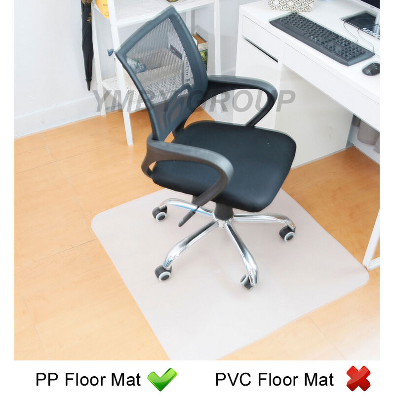 Desk Office Chair Floor PP Mat Protector For Hard Wood Floors 90X