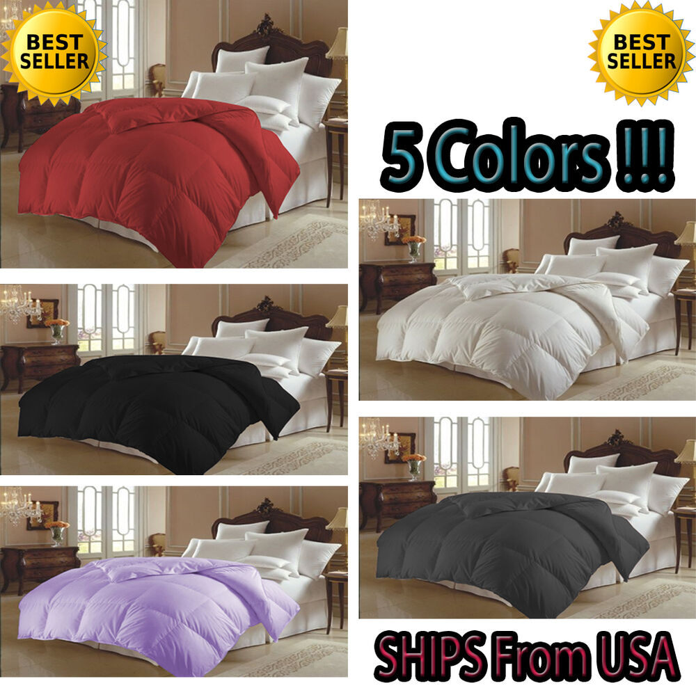 Goose Down Alternative Luxurious Comforter Solid Colors