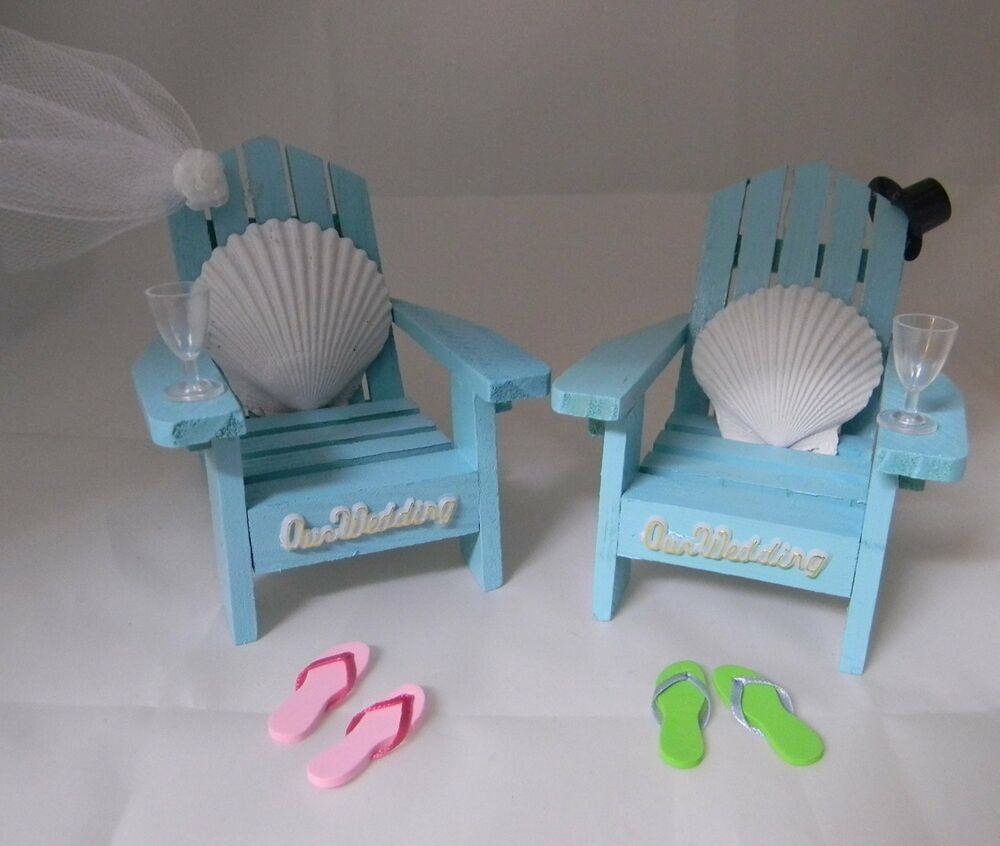 up chairs wedding cake topper wedding reception real seashell adirondack blue veil amp hat 21503