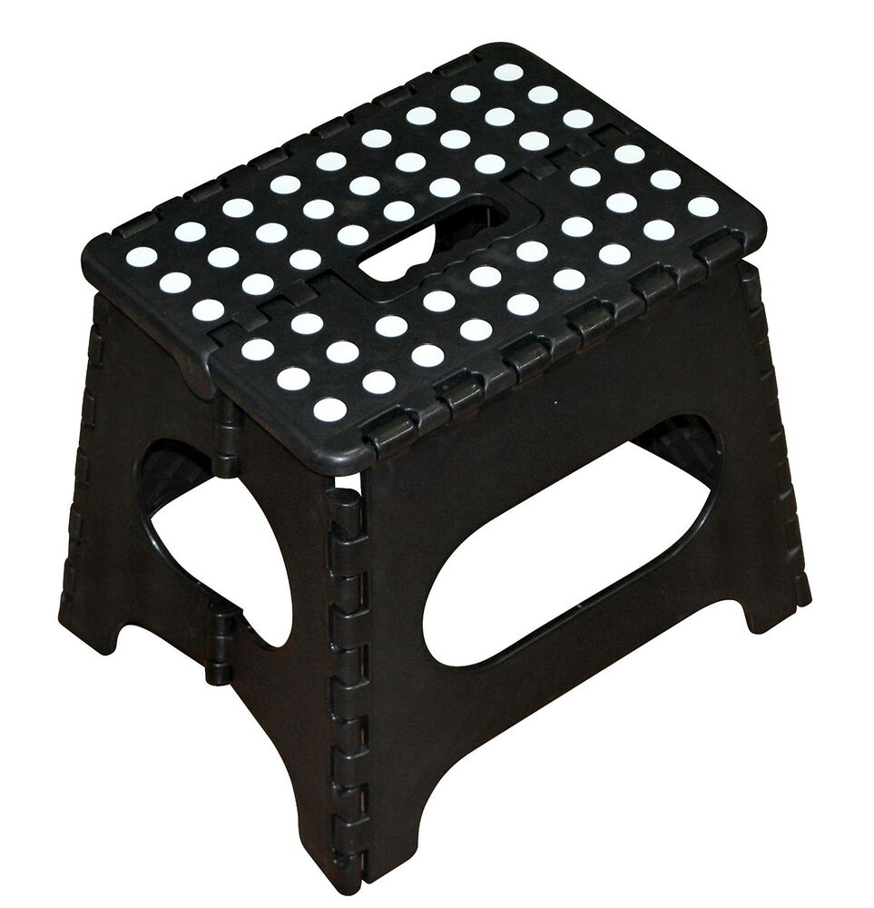 Folding Step Stool Plastic Durable Portable Small Rv