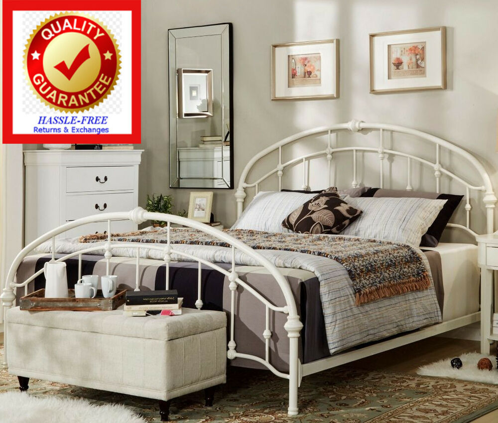 King Sz Iron Bed Victorian Style Elegant Round Double