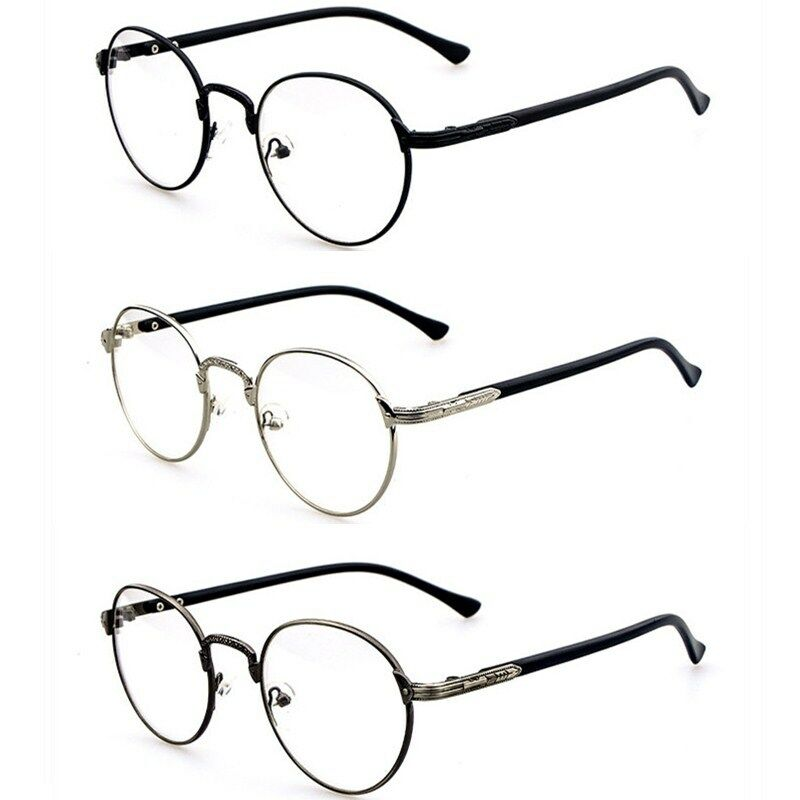 Fashion Hipster Vintage Retro Metal Frame Clear Lens ...