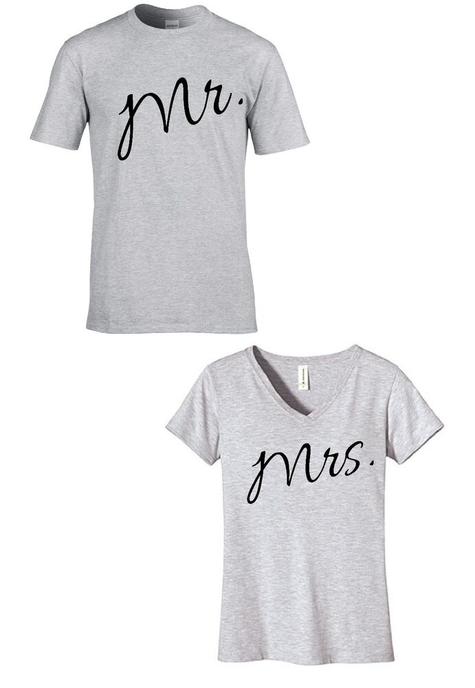 Mr mrs couples t shirt funny couples tees wedding gift for Funny getting married shirts