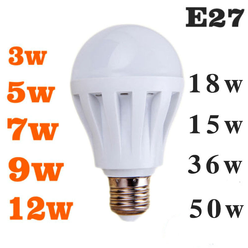 Home E27 Energy Saving Led Bulbs Light Lamp Cool White Ac 110 220v Dc 12v Ebay