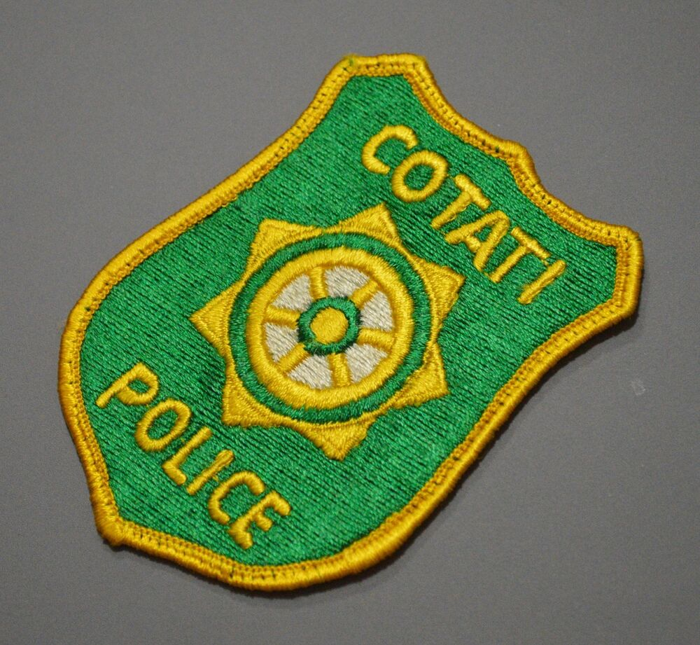 Rare Old Style Cotati California Police Patch
