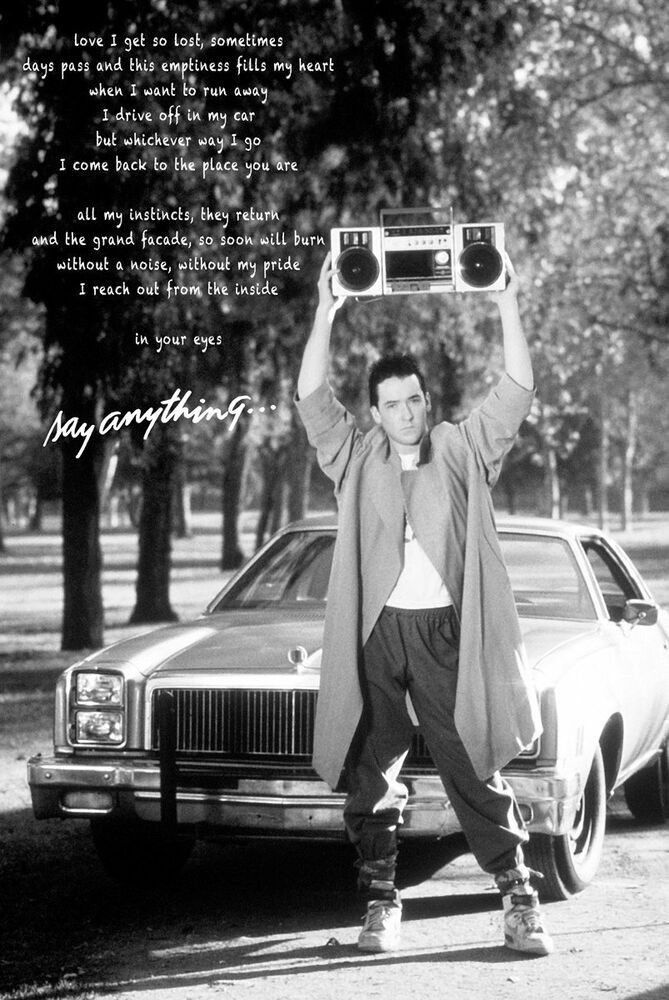 Say Anything Quote Movie Poster 24x36 Classic Cusack 51056 Ebay