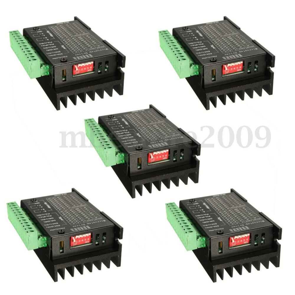 5 pcs cnc single axis 4a tb6600 2 4 phase hybrid stepper for Cnc stepper motor controller