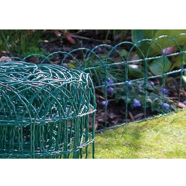 10M X 0.25M PVC COATED GARDEN BORDER WIRE GRASS FENCE FENCING LAWN ...