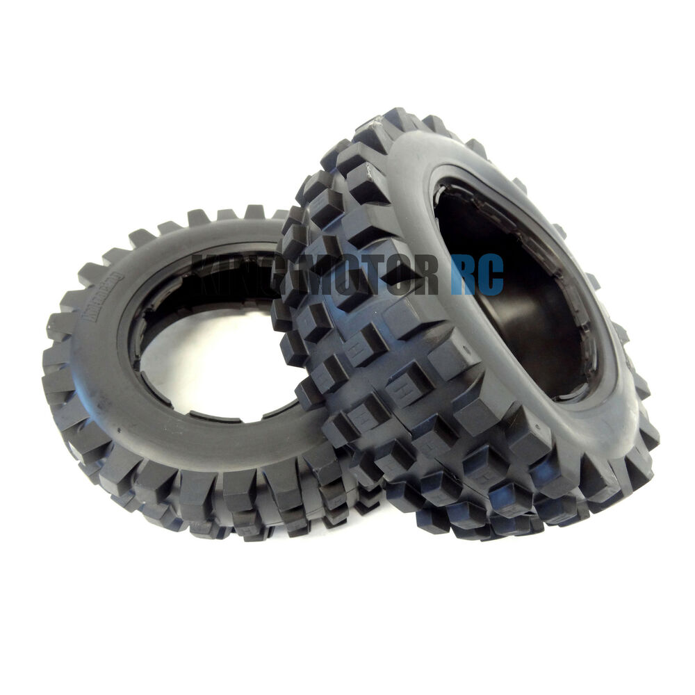 New King Motor Front T1000 Knobby Tires Fits Hpi Baja 5t