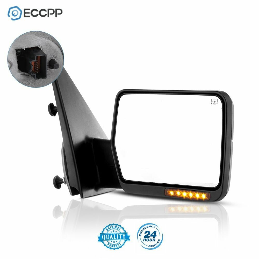 Towing Power Heated Turn Signal Passenger Side Mirror For
