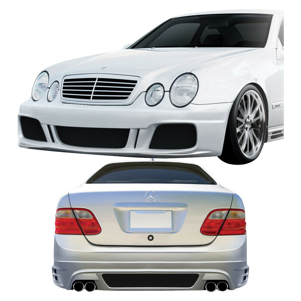 duraflex mercedes clk w208 br t body kit 4 pc for mercedes benz clk class 98 02 ebay. Black Bedroom Furniture Sets. Home Design Ideas