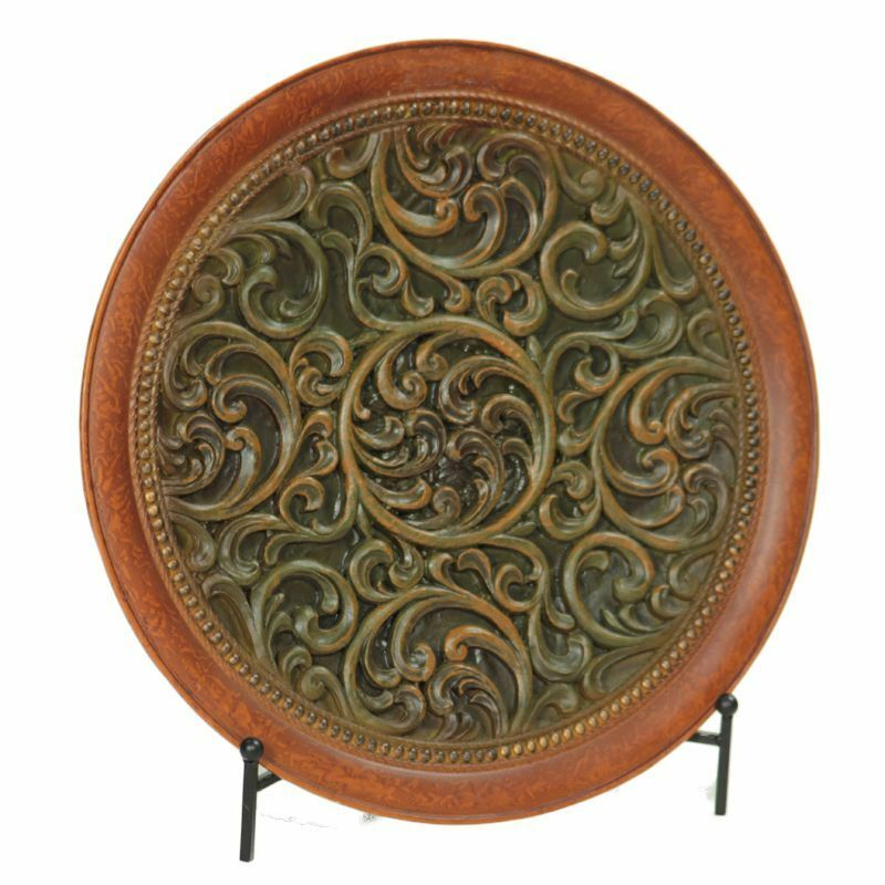DECORATIVE CHARGER PLATE WITH STAND