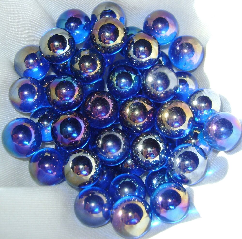 Glass Marbles Game : New light blue lustered lustred mm glass marbles game