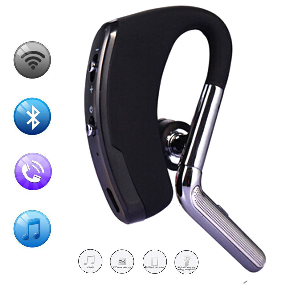 wireless stereo bluetooth headset earpiece for samsung galaxy s7 edge iphone 6s ebay. Black Bedroom Furniture Sets. Home Design Ideas