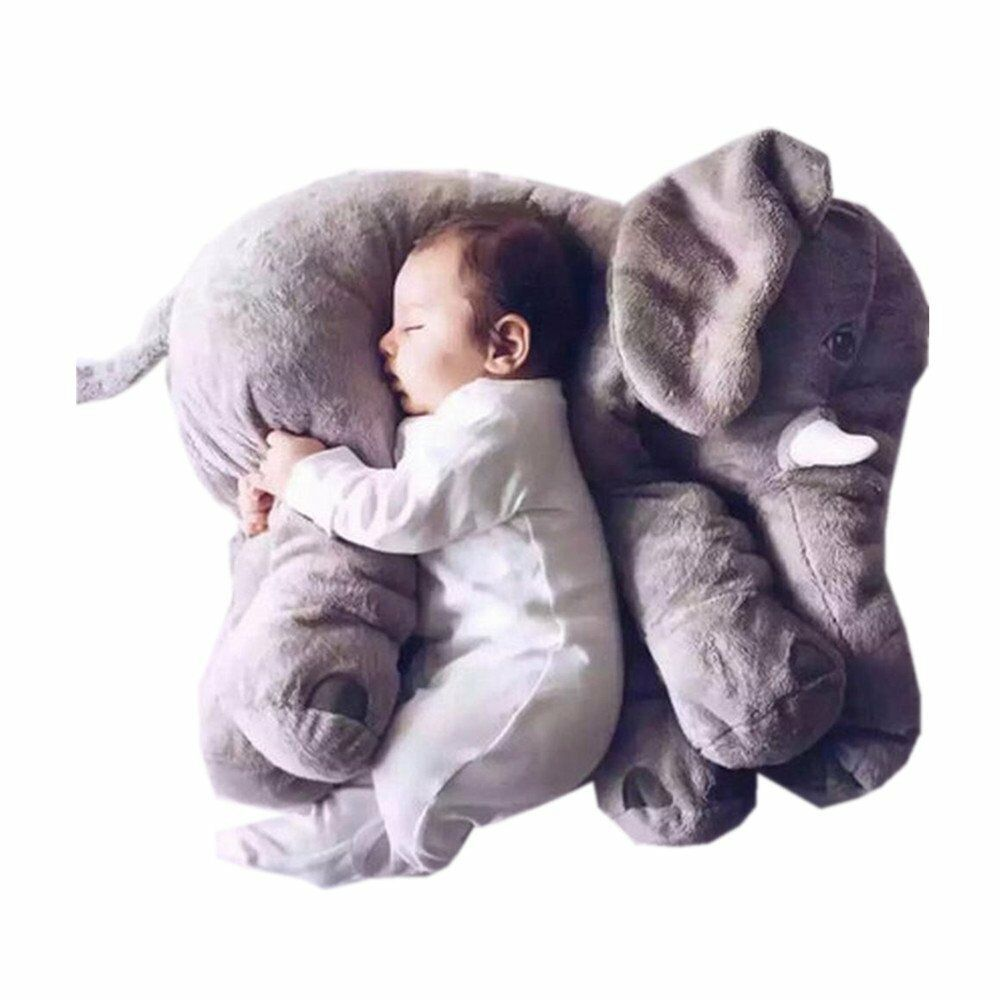 Grey large elephant pillows cushion baby plush toy stuffed animal kids gift eBay
