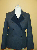 NWT CALVIN KLEIN WOOL BLEND DOUBLE BREASTED CHARCOAL COMBO COAT JACKET M $298.00