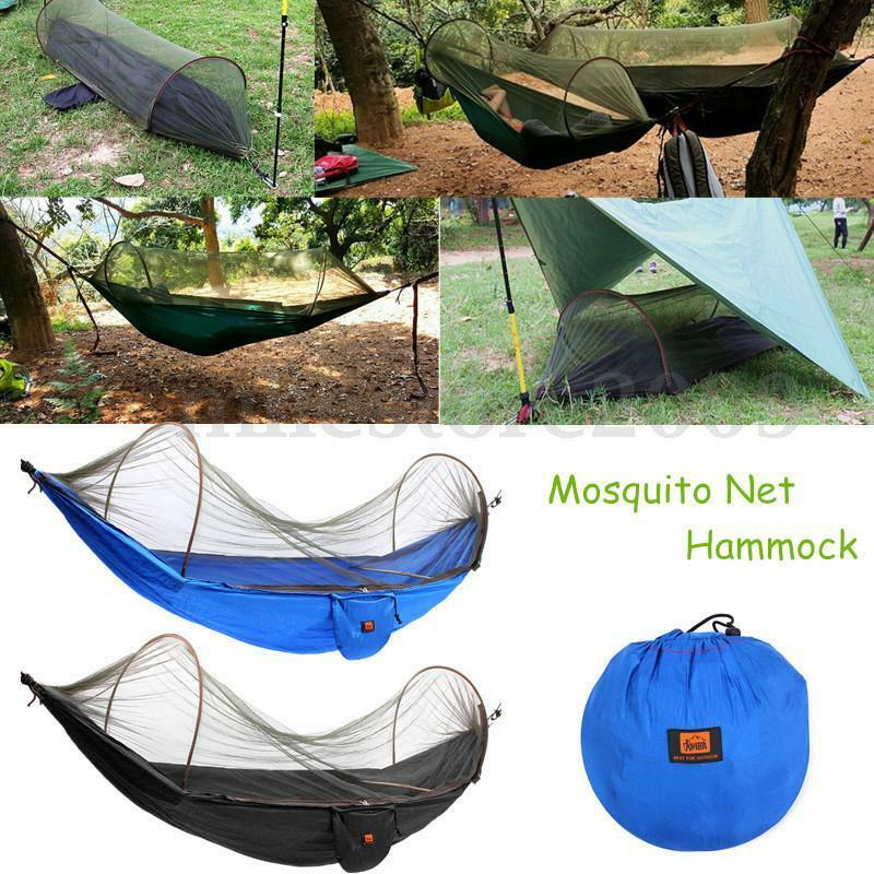 Portable strength camping hammock hanging bed with for Net hammock bed