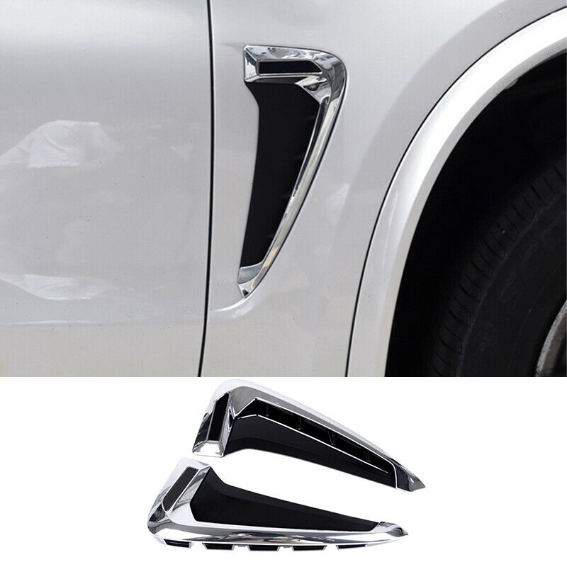 For Bmw X5 F15 2014 2017 Abs Chrome Side Wing Air Flow