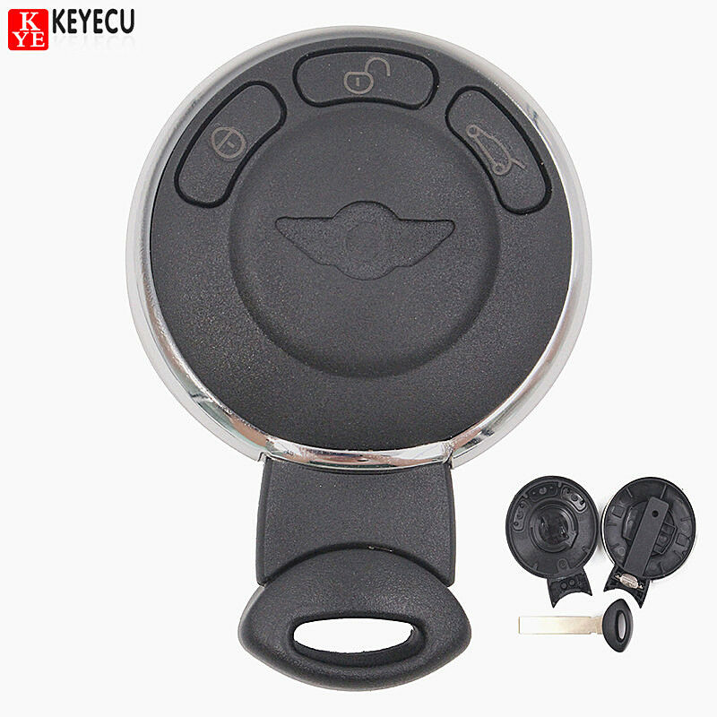 new keyless remote key shell case fob 3b for bmw mini cooper 2007 2009 with logo ebay. Black Bedroom Furniture Sets. Home Design Ideas