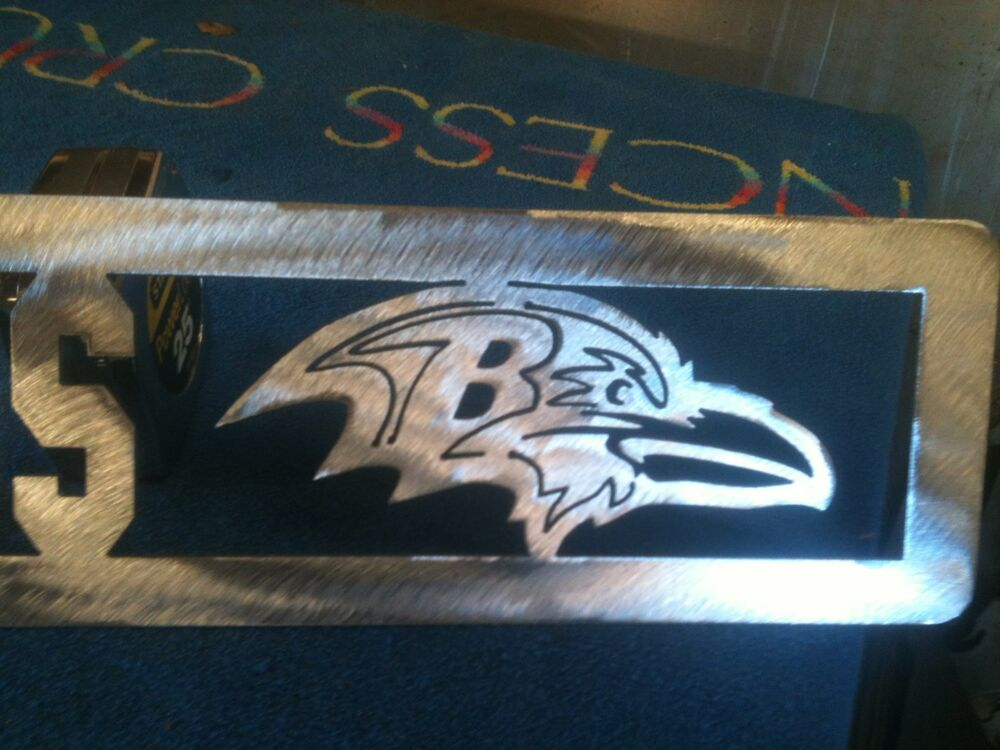 Plasma Cut Baltimore Ravens Plaque Metal Sign Mancave