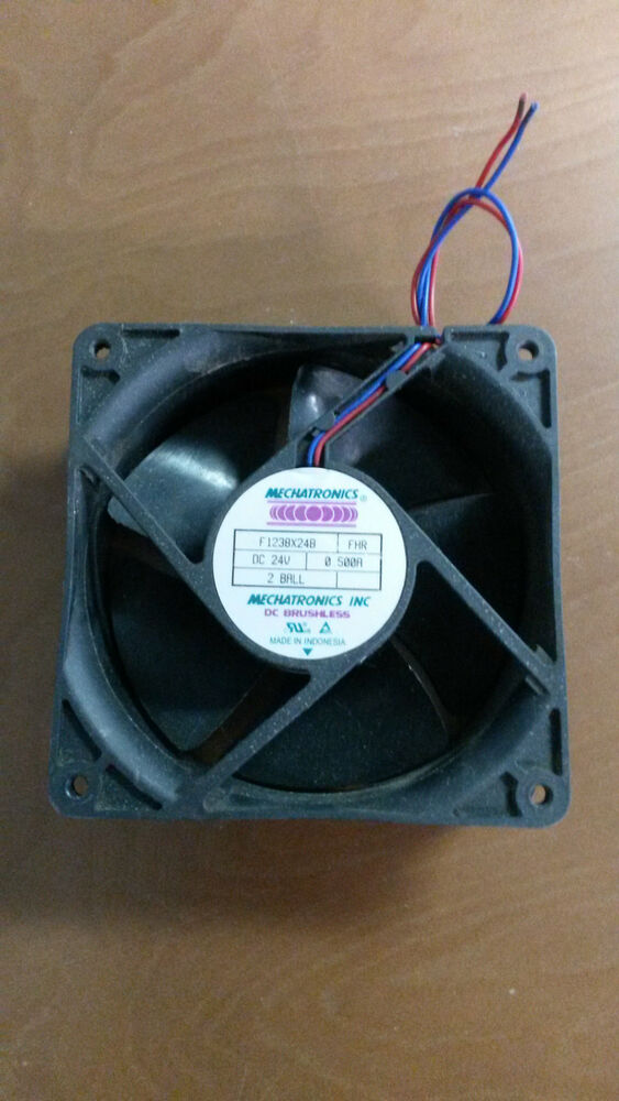 24 volt dc 120mm brushless tubeaxial fan ebay for 24 volt fan motor
